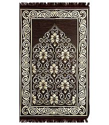 Reversible Dark Brown Cotton Islamic Namaz Mat