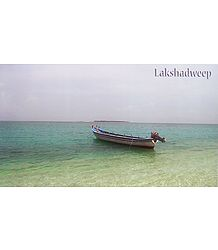 Boat in the Sea in Lakshadweep - Poster