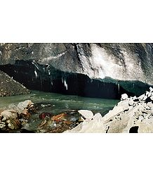 Milam Glacier Snout - Source of Gori Ganga - Uttarakhand, India - Photo by R. C. Sah