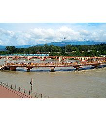 River Ganges in Haridwar, Uttarakhand, India - Photo Print