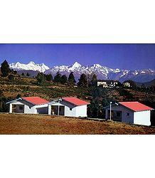 Himalaya from Choukori, Uttarakhand - India