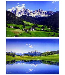 South Tyrol, Italy and Bavaria, Germany - Set of 2 Posters