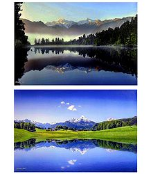 Mt. Cook, Newzealand and Bavaria, Germany - Set of 2 Posters
