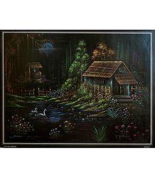 Night Scene in a Village