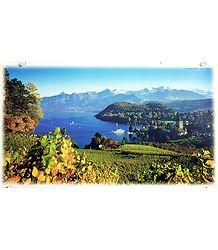 Lake Thun in Spiez - Switzerland Poster