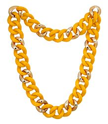 Yellow Acrylic Necklace