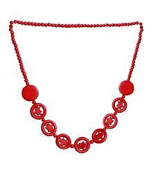 Red Stone Bead Tibetan Necklace