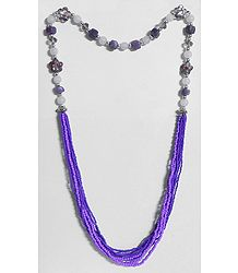 Dark Purple Bead Necklace