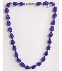 Blue Acrylic Bead Necklace