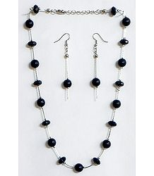 Black Bead Necklace Set