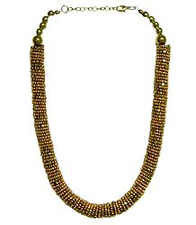 Golden Bead Necklace