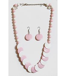 Buy Pink and White Beaded Necklace