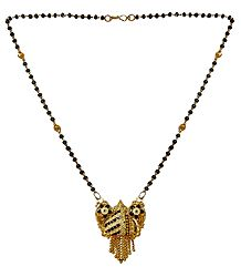 Black Bead Mangalsutra with Pendant