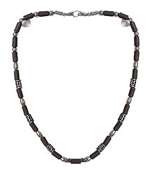 Brown Bead Stretch Necklace