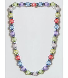 Multicolor Acrylic Bead Stretch Necklace