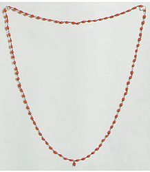 Saffron Stone Bead Stretch Necklace