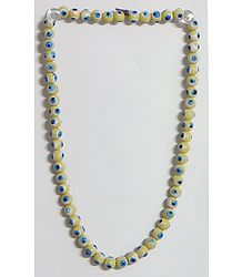 Yellow Acrylic Bead Stretch Necklace