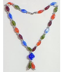 Multicolor Acrylic Bead Necklace