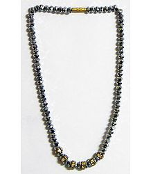 Grey Crystal Bead Necklace