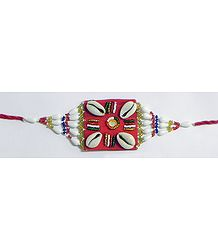 Beaded Armlet with Cowrie