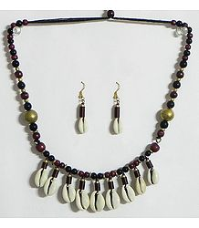 Cowrie with Bead Necklace Set
