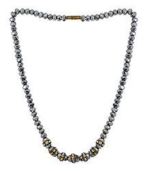 Grey Crystal Bead Necklace