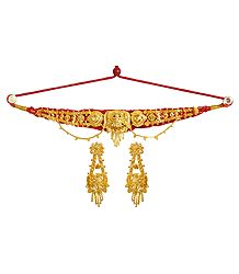 Buy Gold Plated Adjustable Metal Choker Set