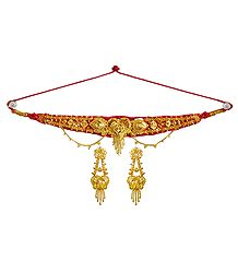 Gold Plated Adjustable Metal Choker Set