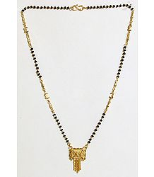 Gold Plated Mangalsutra with Crown