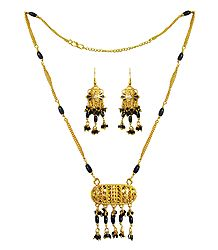 Buy Gold Plated Mangalsutra with Earrings