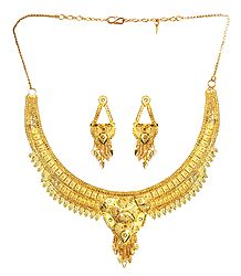 Gold Plated Bridal Necklace Set