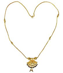 Golden Metal Chain with Pendant