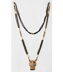 Black and White Beaded Mangalsutra