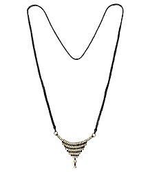 Mangalsutra with Stone Studded Pendant