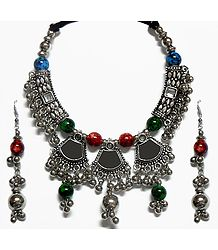 Shop Online Metal Necklace with Earrings