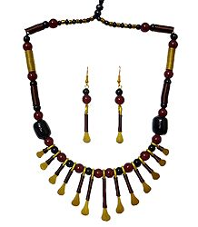 Buy Brass with Copper Designer Necklace Set