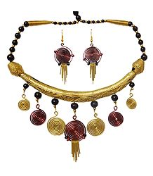 Buy Dhokra Necklace Set