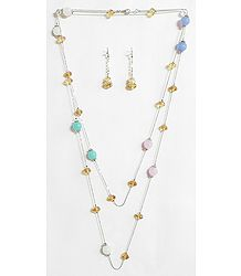 Multicolor Crystal Bead Necklace Set