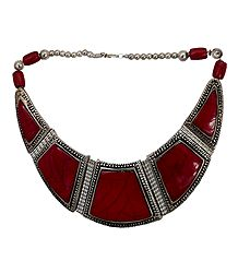 Tibetan Red Stone Necklace