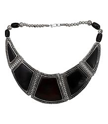 Tibetan Black Stone Necklace