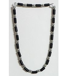 Black Bead Stretch Necklace