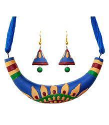 Terracotta Hansuli Necklace & Earrings