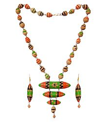 Shop Online Hand Painted Terracotta Necklace & Earrings