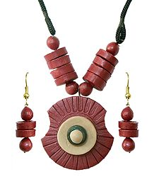 Terracotta Necklace and Earrings