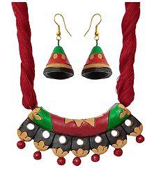 Buy Red Terracotta Necklace & Earrings
