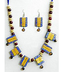 Hand Painted Terracotta Necklace Set
