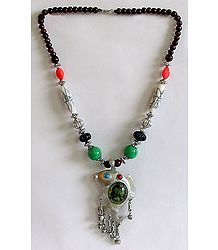 Tibetan Necklace with Fish Pendant