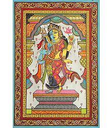 Ardhanarishwara pata painting