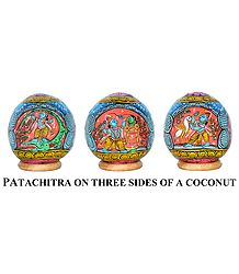 Buy Pata Painting on Coconut Shell