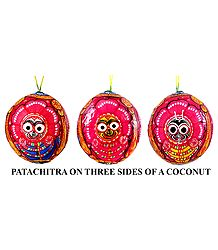 Pata Painting on 3 Sides of Hanging Coconut
